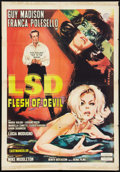 "Movie Posters:Crime, LSD Flesh of Devil (United Producers, 1967). One Sheet (27"" X 39"").Crime.. ..."