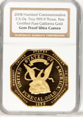"S.S.C.A. Relic Gold Medals, (2008) 2.5 Ounce ""Humbert Commemorative"" Ultra Cameo Gem ProofNGC...."