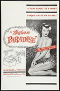 """Movie Posters:Adult, Nudist Paradise (Fanfare, 1960). One Sheet (27"""" X 41""""). Sexploitation. Released in U.S. as Nature's Paradise.. ..."""