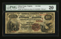 National Bank Notes:Virginia, Clifton Forge, VA - $10 1882 Brown Back Fr. 490 The First NB Ch. #(S)6008. ...