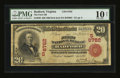 National Bank Notes:Virginia, Radford, VA - $20 1902 Red Seal Fr. 639 The First NB Ch. # (S)6782. ...
