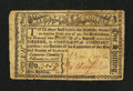 Colonial Notes:New York, Albany, NY- Albany February 17, 1776 Personal Promissory Note $1/8(1s) Repaired Very Fine.. ...