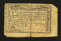 Colonial Notes:New York, Albany, NY- Albany February 17, 1776 Personal Promissory Note $1/4(2s) Repaired Very Fine.. ...