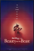 "Movie Posters:Animated, Beauty and the Beast (Buena Vista, 1991). One Sheet (27"" X 41""). SSAdvance. Animated.. ..."