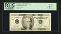 Error Notes:Missing Magnetic Ink, Fr. 2084-L $20 1996 Federal Reserve Note. PCGS Choice New 63.. ...