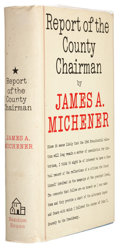 Books:First Editions, James Michener. Report of the County Chairman. New York:Random House, 1961. First edition, first printing. Publ...