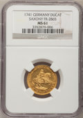 German States:Saxony, German States: Saxony. Friedrich August II gold Ducat 1741, ...