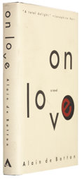 Books:Signed Editions, Alain de Botton. On Love. New York: The Atlantic Monthly Press, 1993. First edition, first printing. Signed by...