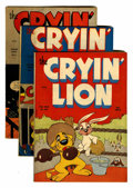 "Golden Age (1938-1955):Funny Animal, Cryin' Lion Comics #1-3 Davis Crippen (""D"" Copy) pedigree Group(Wm. H. Wise & Co., 1944-45).... (Total: 3 Comic Books)"