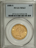 Liberty Eagles: , 1888-S $10 MS63 PCGS. PCGS Population (89/3). NGC Census: (46/5). Mintage: 648,700. Numismedia Wsl. Price for NGC/PCGS coin...
