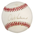 """Autographs:Baseballs, Al Kaline Single Signed Baseball. Elected to the Hall of Fame in1980, """"Mr. Tiger"""" was selected to the All-Star squad 15 ti..."""