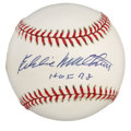 Autographs:Baseballs, Eddie Matthews Single Signed Baseball. A feared left-handedslugger, Eddie Matthews was the first athlete featured on the c...