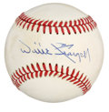 Autographs:Baseballs, Willie Stargell Single Signed Baseball. Hall of Fame inductee in1988, Willie Stargell was an intimidating left- handed bat...