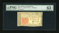 Colonial Notes:New Jersey, New Jersey March 25, 1776 3s with low serial number PMG ChoiceUncirculated 63 EPQ....
