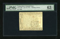 Colonial Notes:Connecticut, Connecticut June 19, 1776 1s/6d Uncancelled PMG Choice Uncirculated63 EPQ....