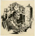 Original Comic Art:Illustrations, Roy G. Krenkel - Science Fiction Illustration Original Art (undated). ...