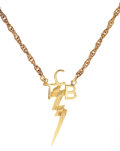 Music Memorabilia:Memorabilia, Elvis Presley Gold TCB Necklace with Memorial Plaque.... (Total: 2)