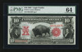 Large Size:Legal Tender Notes, Fr. 114 $10 1901 Legal Tender PMG Choice Uncirculated 64.. ...
