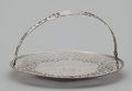 Silver Holloware, American:Compotes, AN AMERICAN SILVER SWING HANDLE CAKE PLATE . Gorham Manufacturing Co., Providence, Rhode Island, 1909. Marks: (lion-anchor-...