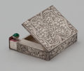 Silver Smalls:Other , AN ITALIAN SILVER LIPSTICK AND COMPACT . Florence, Italy, circa1900. Marks: (mark for Florence, maker #6), 800. 3-1/8 ...