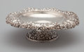 Silver & Vertu:Hollowware, AN AMERICAN SILVER FOOTED COMPOTE. Dominick & Haff, New York, New York, circa 1887. Marks: rectangle (925)-circle diamond (1...