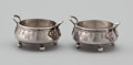 Silver Holloware, American:Open Salts, A PAIR OF AMERICAN SILVER OPEN SALTS . Probably American, circa1890. Marks: 925 STERLING, 175. 1-5/8 x 3-1/4 x 2-1/2 in...(Total: 2 Items Items)