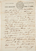 "Autographs:Military Figures, [Jim Bowie]. Land Sale Deed to Jim Bowie. Two pages, 8.5"" x 12"",Nacogdoches, September 19, 1835. Only months before the fal..."
