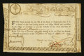 Colonial Notes:Massachusetts, Massachusetts 6% Treasury Certificate April 26, 1779 Very Fine.....