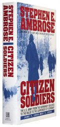 Books:First Editions, Stephen E. Ambrose. Citizen Soldiers. New York: Simon &Schuster, 1997. First edition. 512 pages. Publisher's or...