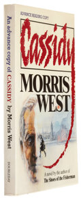 Books:Signed Editions, Morris West. Cassidy. New York: Doubleday & Company, Inc., 1986. Advance reading copy of the first edition. In...