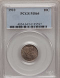 Barber Dimes: , 1910 10C MS64 PCGS. PCGS Population (116/90). NGC Census: (125/93).Mintage: 11,520,551. Numismedia Wsl. Price for problem ...