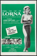 """Movie Posters:Adult, Lorna (Eve Productions, 1964). One Sheet (27"""" X 41""""). Adult.. ..."""
