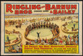 """Movie Posters:Miscellaneous, Circus Poster (Ringling Brothers and Barnum & Bailey, 1939). Poster (28"""" X 42""""). Miscellaneous.. ..."""