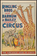 """Movie Posters:Miscellaneous, Circus Poster (Ringling Brothers and Barnum & Bailey, 1940s). Poster (27"""" X 40.5""""). Miscellaneous.. ..."""