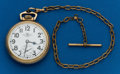Timepieces:Pocket (post 1900), Ball, 21 Jewel, 999B, With Chain. ...