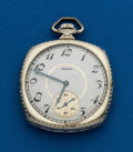 Timepieces:Pocket (post 1900), Elgin, 14k, White Gold, 12 Size. ...
