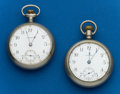 Timepieces:Pocket (post 1900), Two - Waltham, 18 Size. ... (Total: 2 Items)