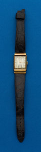 Timepieces:Wristwatch, Hamilton, 18k Gordon Rectangular Wristwatch. ...
