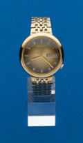 Timepieces:Pocket (post 1900), Bulova, 14k, 218 Accutron With Unusual 14k Band. ...