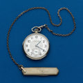 Timepieces:Pocket (post 1900), Hamilton, Grade 912 With Chain. ...