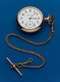 Timepieces:Pocket (post 1900), Illinois, Two Tone, 21 Jewel, Bunn Special, With Chain. ...