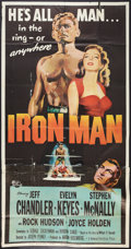 "Movie Posters:Sports, Iron Man (Universal International, 1951). Three Sheet (41"" X 81""). Sports.. ..."