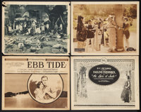 """Ebb Tide Lot (Paramount, 1922). Title Lobby Cards (2) and Lobby Cards (2) (11"""" X 14""""). Adventure. ... (Total:..."""