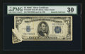 Error Notes:Foldovers, Fr. 1653 $5 1934C Wide Silver Certificate. PMG Very Fine 30.. ...