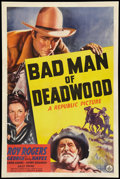 "Movie Posters:Western, Bad Man of Deadwood (Republic, 1941). One Sheet (27"" X 41""). Western.. ..."