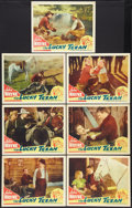 """Movie Posters:Western, The Lucky Texan (Lone Star, R-1940s). Lobby Cards (7) (11"""" X 14""""). Western.. ... (Total: 7 Items)"""