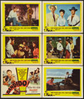 """Movie Posters:Action, Bandido (United Artists, 1956). Title Lobby Card & Lobby Cards (5) (11"""" X 14""""). Action.. ... (Total: 6 Items)"""