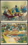 """Movie Posters:Fantasy, The Wizard of Oz (MGM, R-1940s). British Color Front of House Photos (2) (8"""" X 10""""). Fantasy.. ... (Total: 2 Items)"""