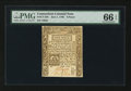 Colonial Notes:Connecticut, Connecticut June 1, 1780 9d Slash Cancel PMG Gem Uncirculated 66EPQ.. ...