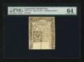 Colonial Notes:Connecticut, Connecticut May 10, 1775 2s 6d Slash Cancel PMG Choice Uncirculated 64.. ...